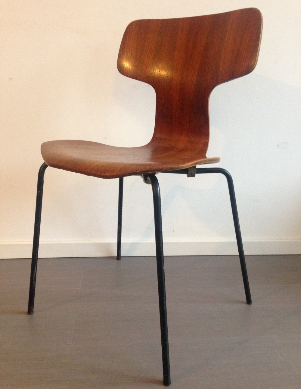 Set of 4 3103 Hammer Head dinner chairs from the fifties by Arne Jacobsen for Fritz Hansen