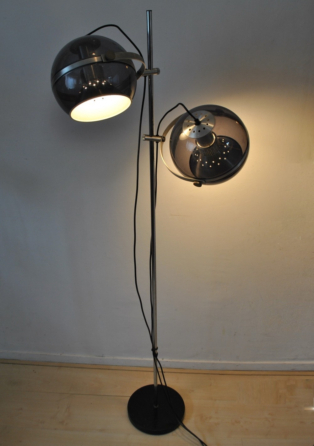 space age floor lamp from the sixties by unknown designer for dijkstra lampen 60547. Black Bedroom Furniture Sets. Home Design Ideas