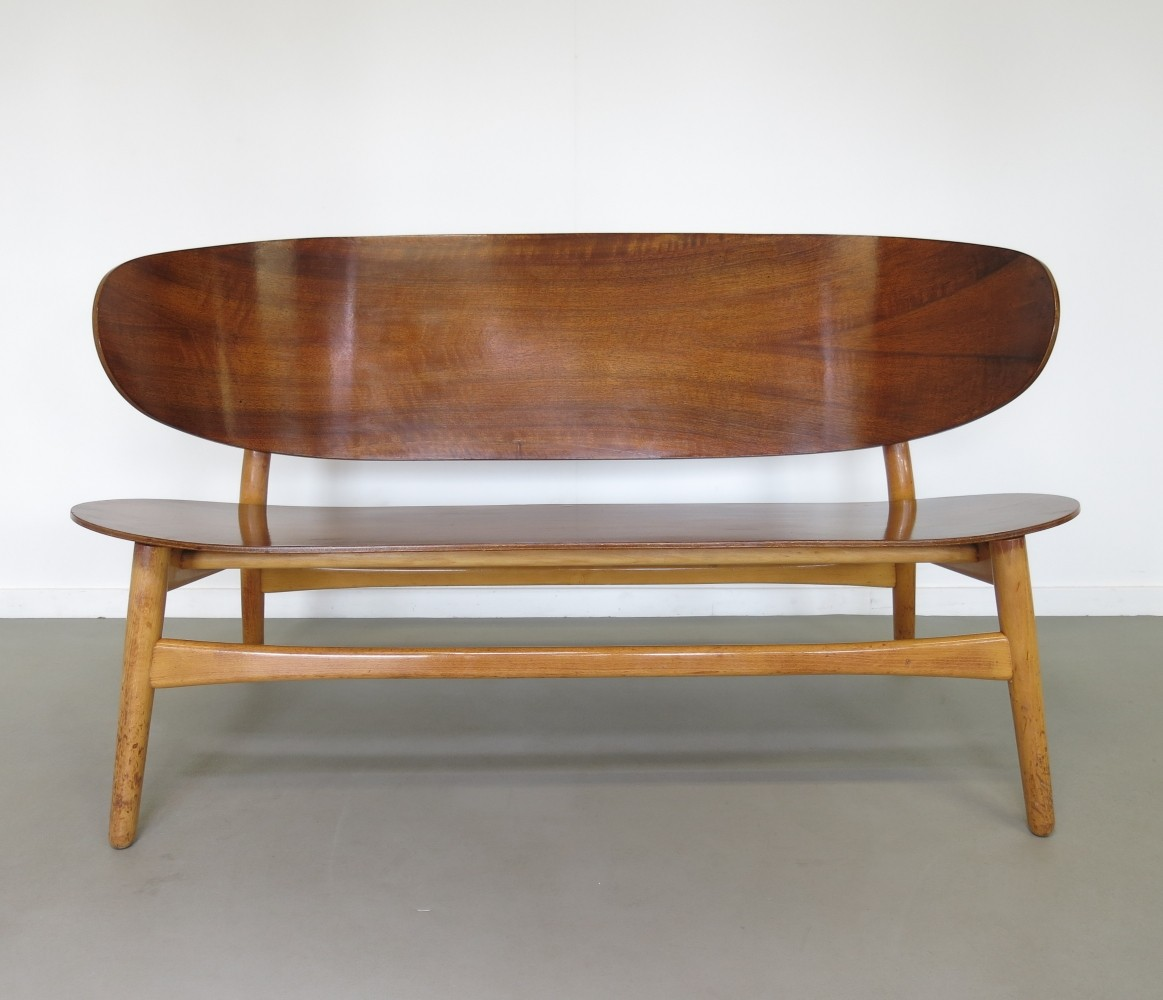 FH 1935 Bench from the fifties by Hans Wegner for Fritz Hansen
