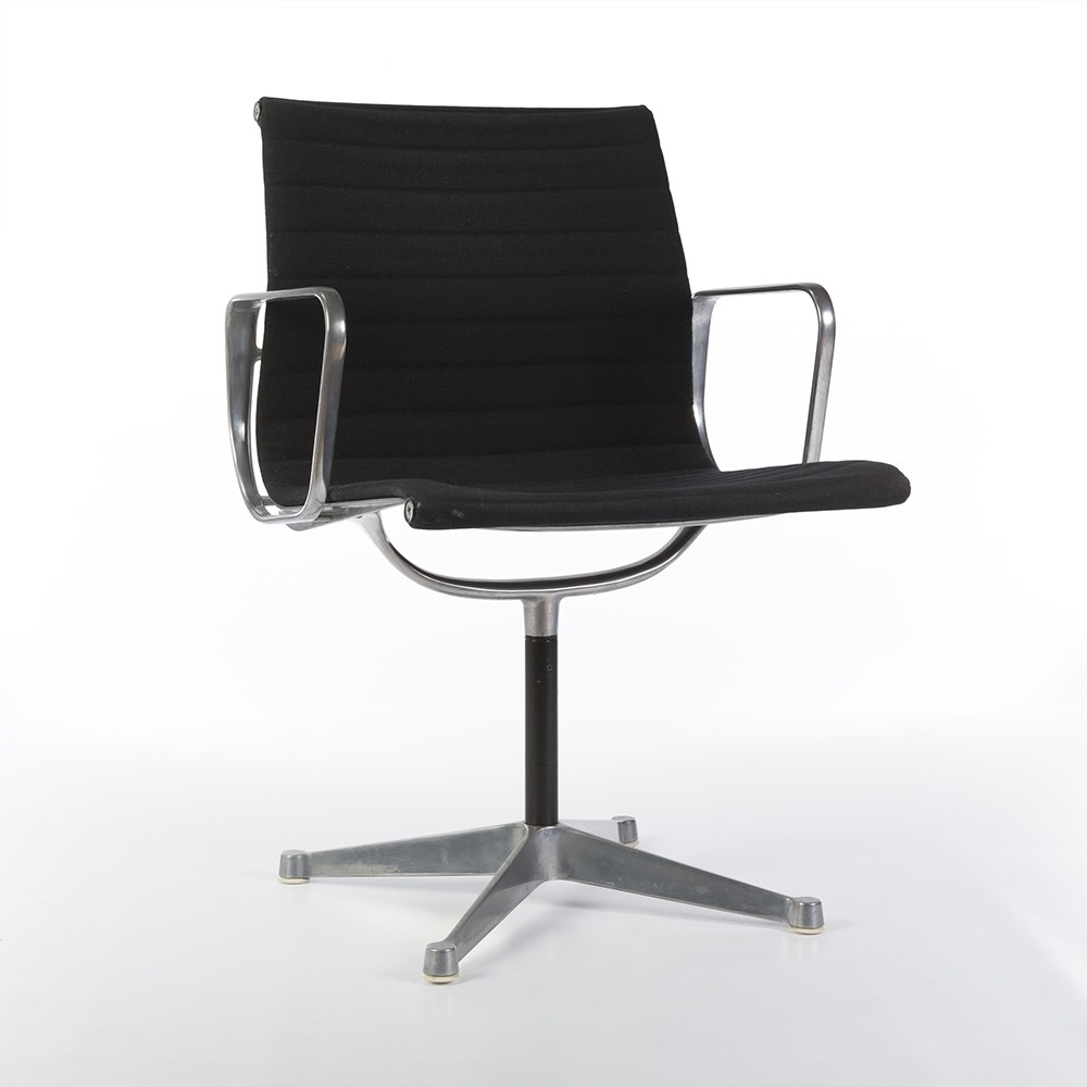 original eames low back black ribbed fabric office chairs. Black Bedroom Furniture Sets. Home Design Ideas