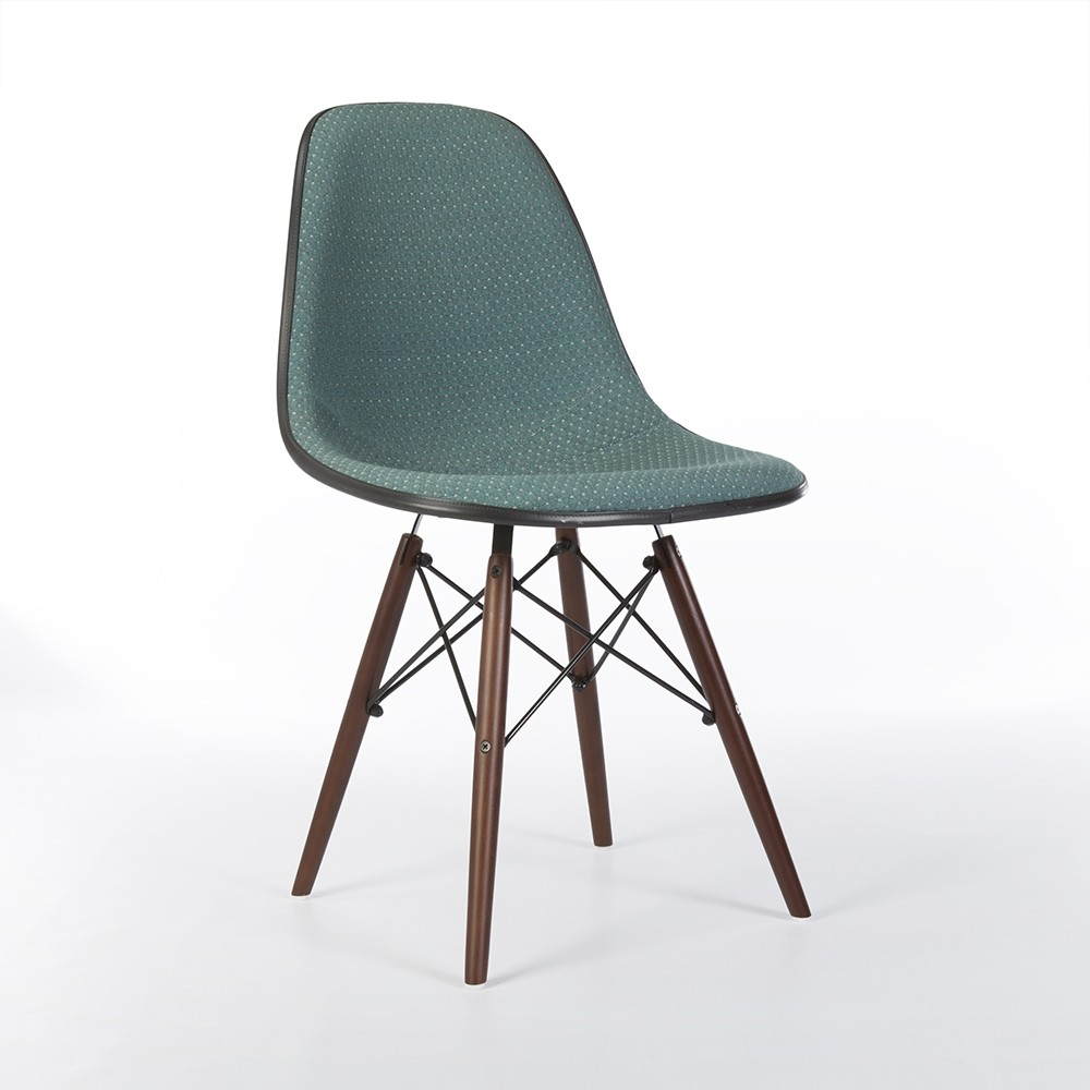 original green 39 diamond 39 upholstered eames dsw side shell