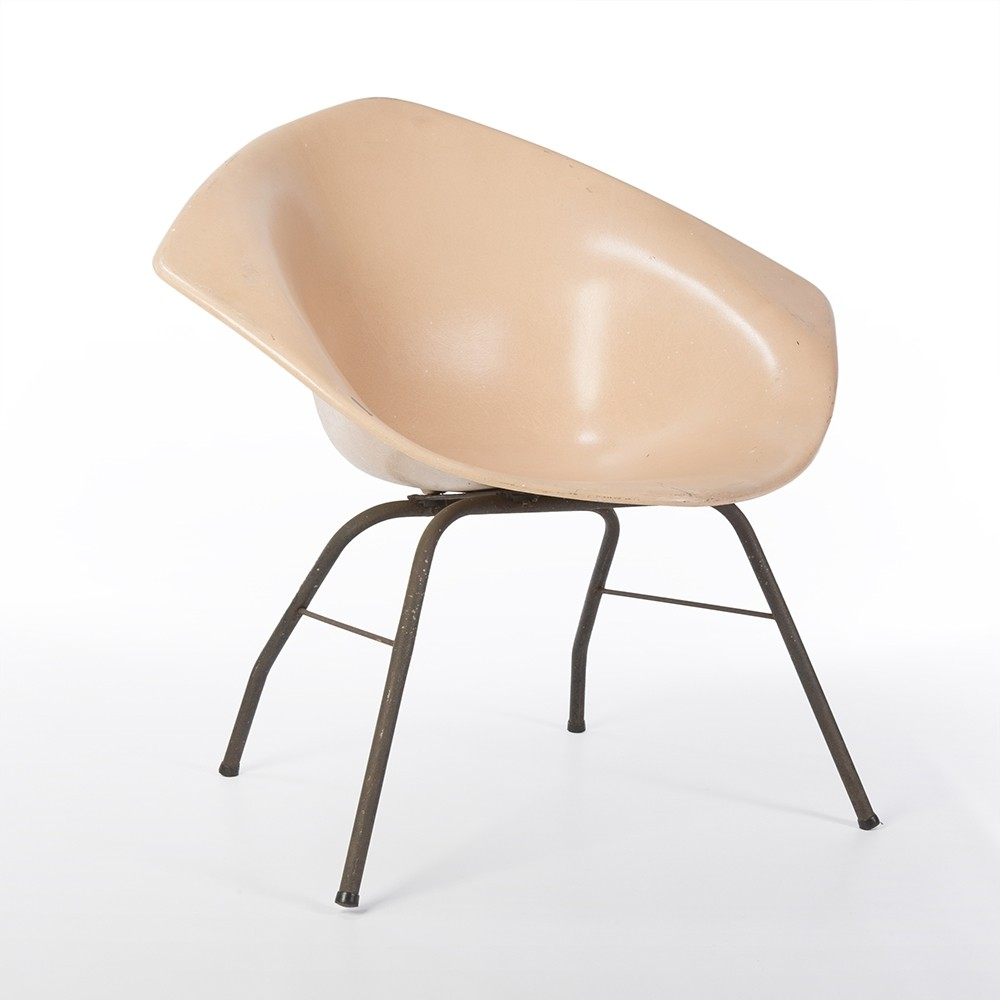 Bertoia diamond chair vintage - Original Peach Fiberglass Harry Bertoia Diamond Chair
