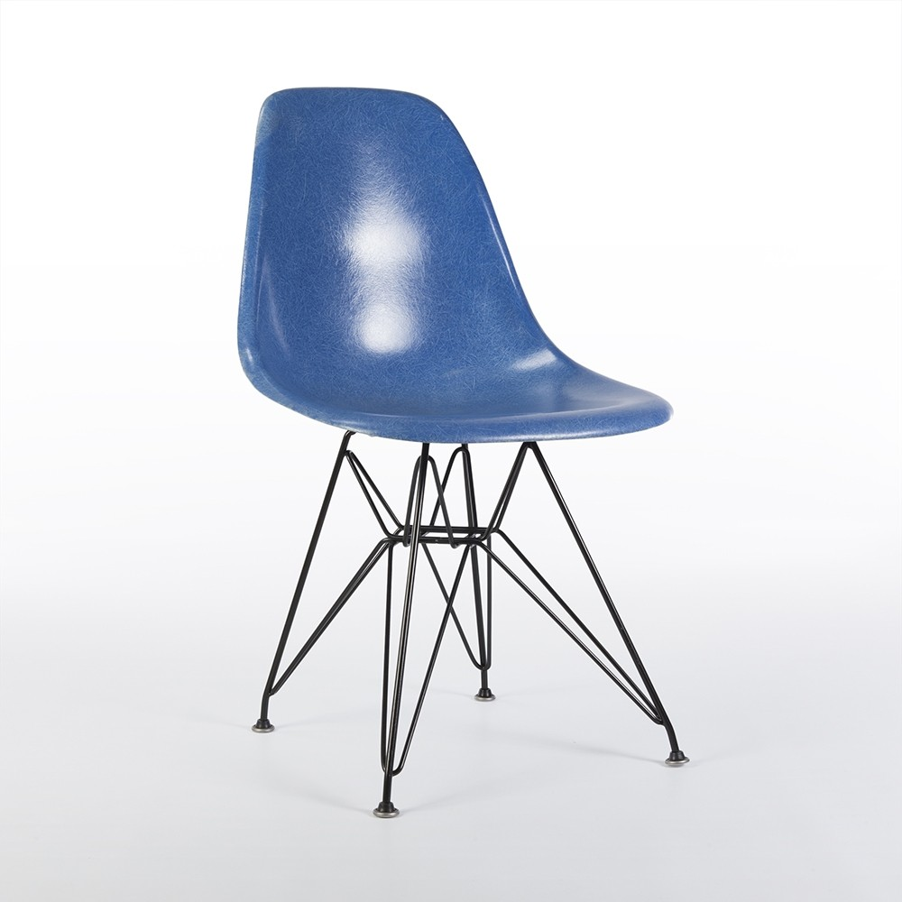 original blue eames dsr side shell chair 61000. Black Bedroom Furniture Sets. Home Design Ideas