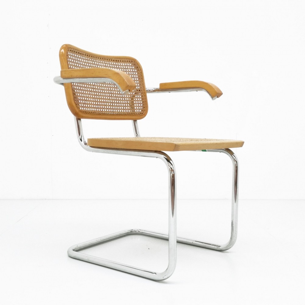 cesca b32 arm chair from the seventies by marcel breuer for cidue 61001. Black Bedroom Furniture Sets. Home Design Ideas
