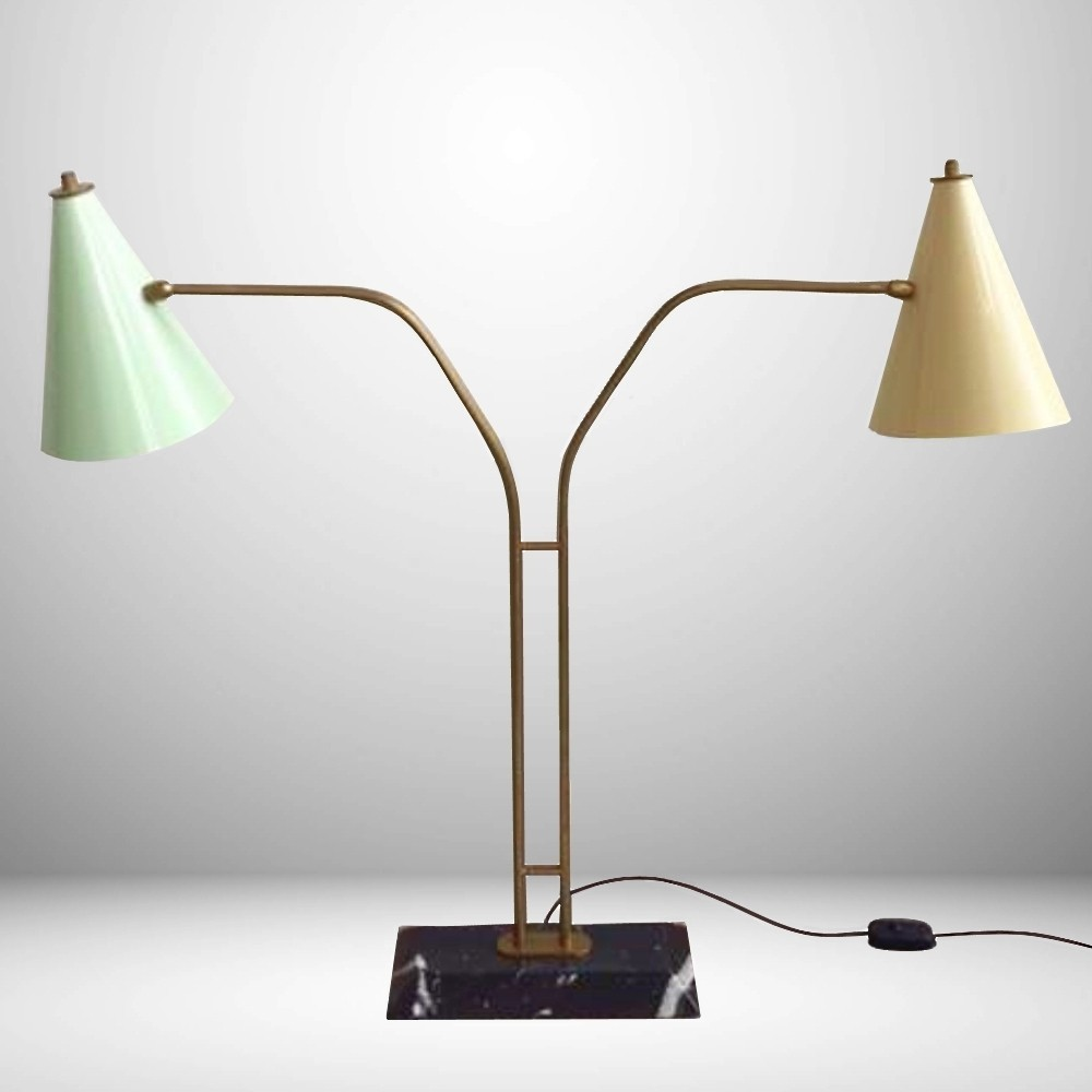 Italian double table lamp 61366 italian double table lamp geotapseo Gallery