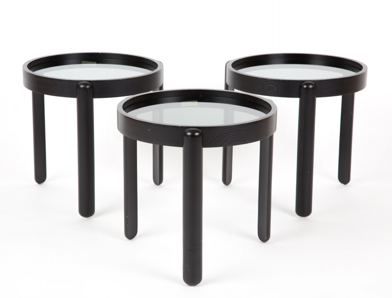 set of 3 porada arredi nesting tables 1970s 61399