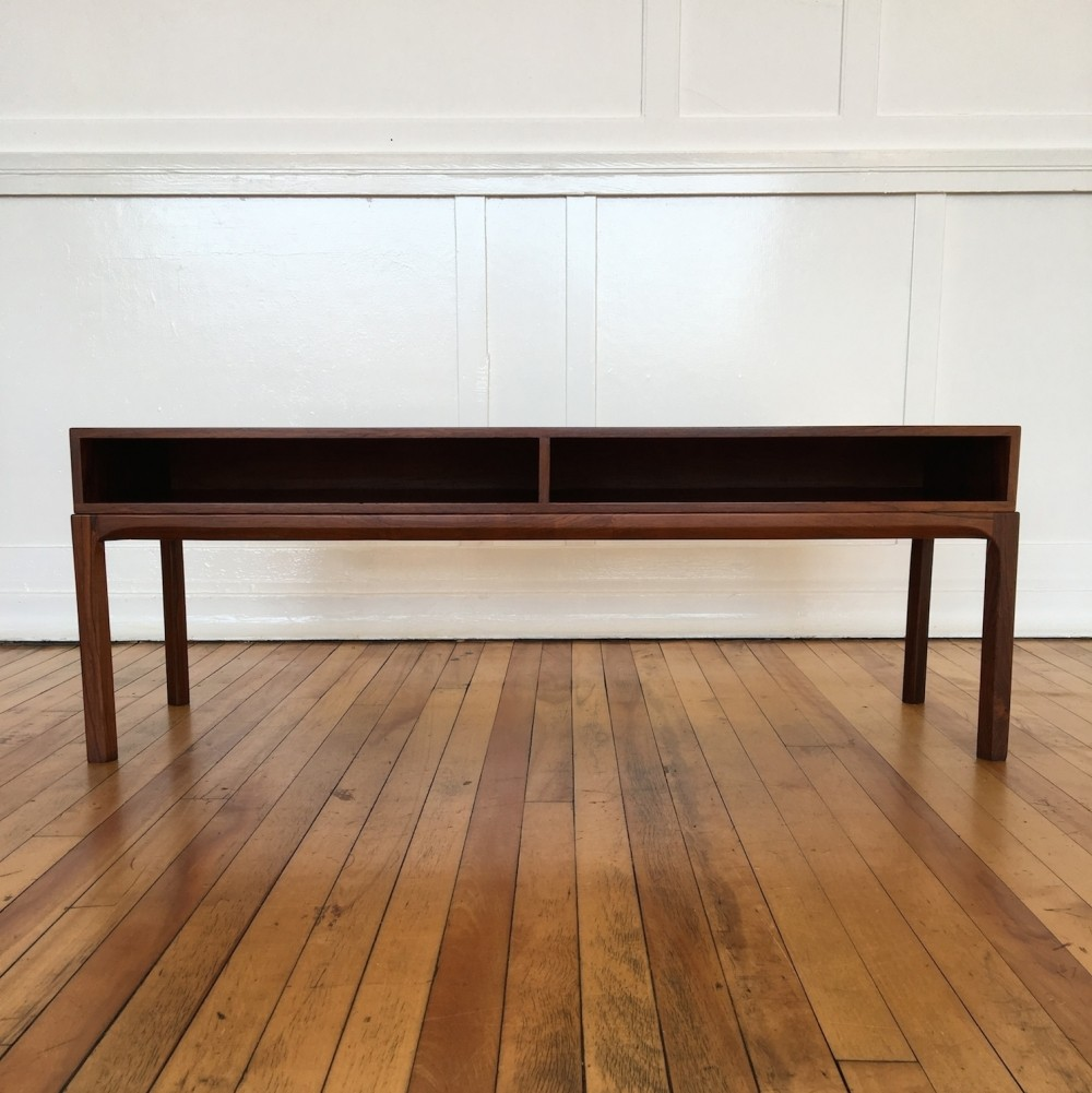 Midcentury Danish Rosewood Low Chest Console Table Sideboard