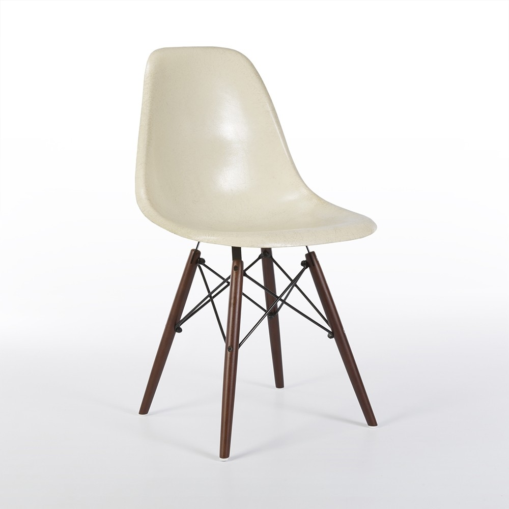 original white eames dsw side shell chair 61506