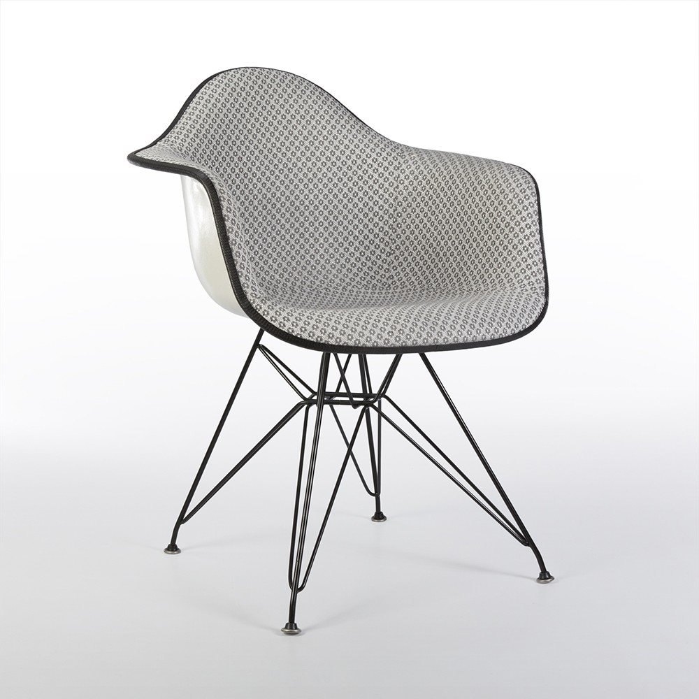 original grey targets alexander girard upholstered eames dar arm shell chair 61594. Black Bedroom Furniture Sets. Home Design Ideas