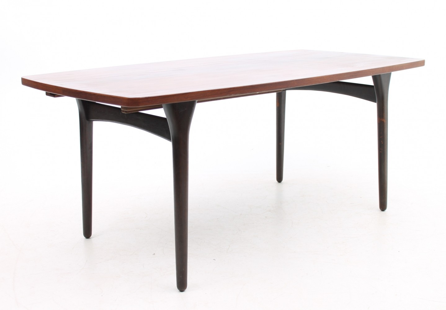 Extension model dining table by Bruno Hansen, 1960s