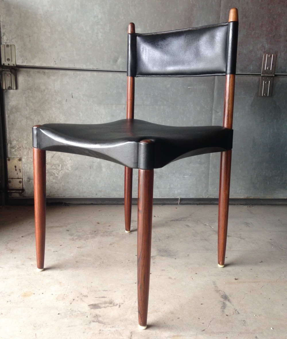 Danish Dining Chair rosewood & leatherette danish dining chairsanders f. jensen