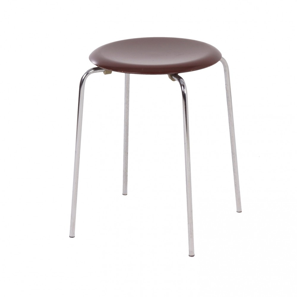 Danish Dot Stool 3170 By Arne Jacobsen For Fritz Hansen