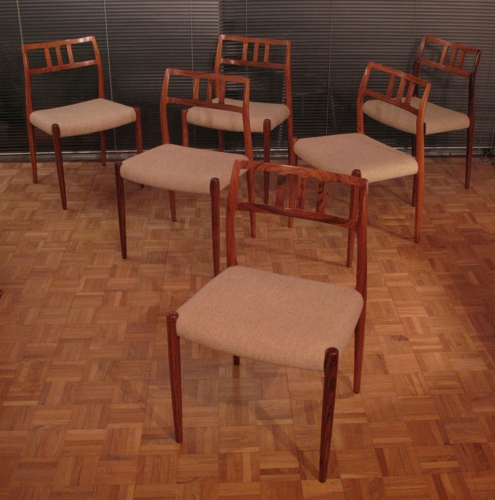 Set Of 6 Niels Moller Model 70 Rosewood Dining Chairs