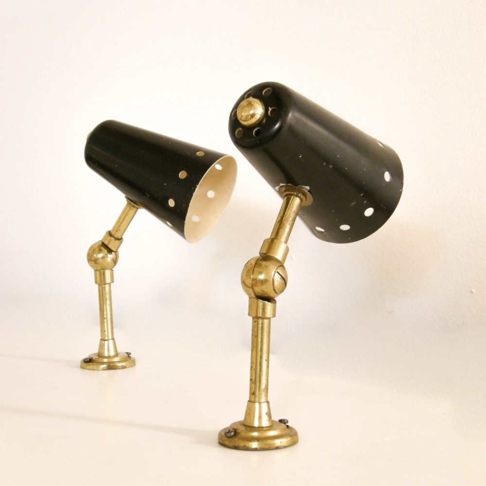 Wall Lamp Set Sri Lanka : Set of 2 wall lamps from the fifties by Unknown Designer for Unknown Producer #62036
