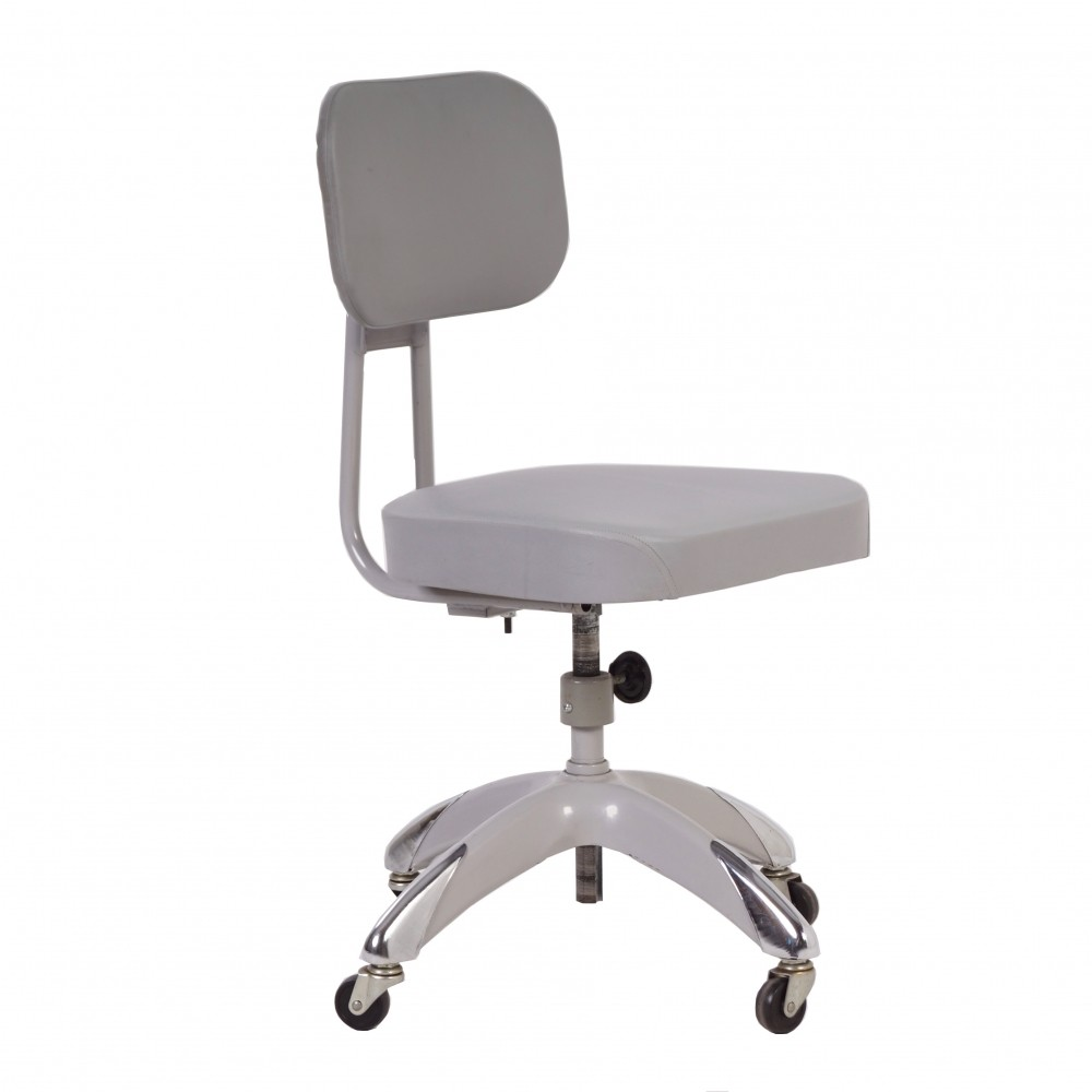 Industrial Adjustable Office Chair Ca Grey - Grey office chair