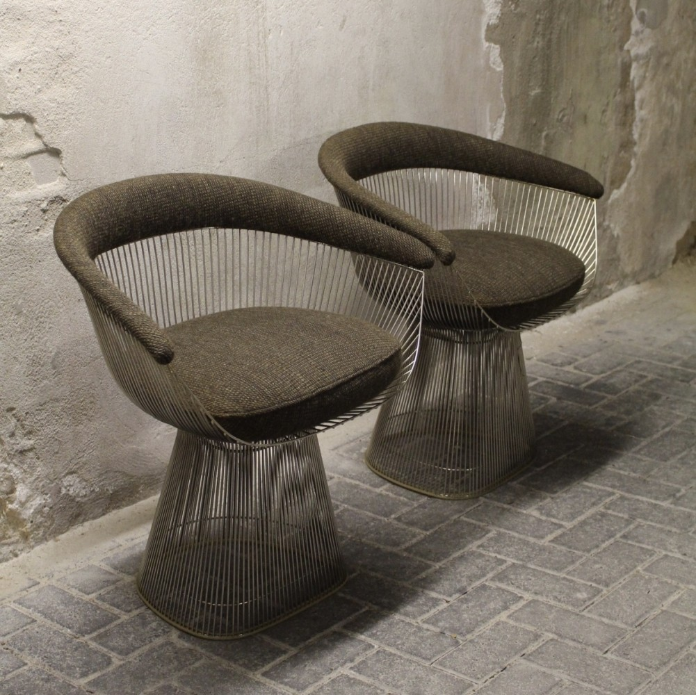 Set of 2 Model 1725A arm chairs from the sixties by Warren Platner ...