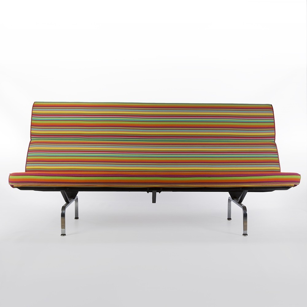compact sofa by charles  ray eames  alexander girard for herman  - compact sofa by charles  ray eames  alexander girard for herman millers