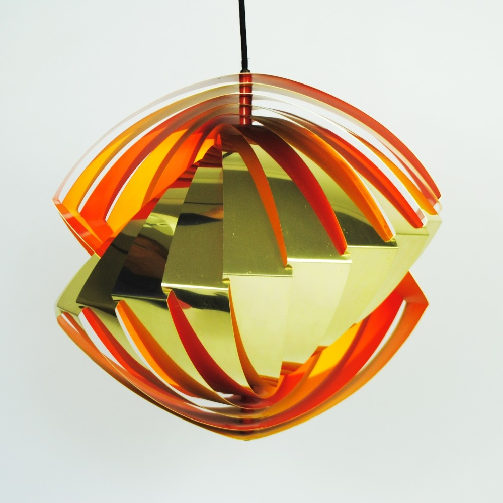 Konkylie hanging lamp by Louis Weisdorf for Lyfa, 1960s