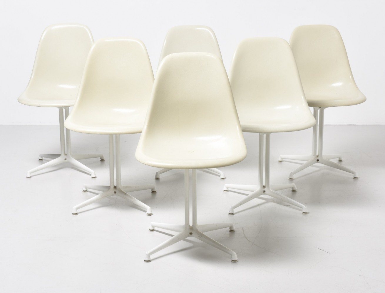 Set of 6 DSW - La Fonda base dinner chairs by Charles & Ray Eames for Vitra, 1960s