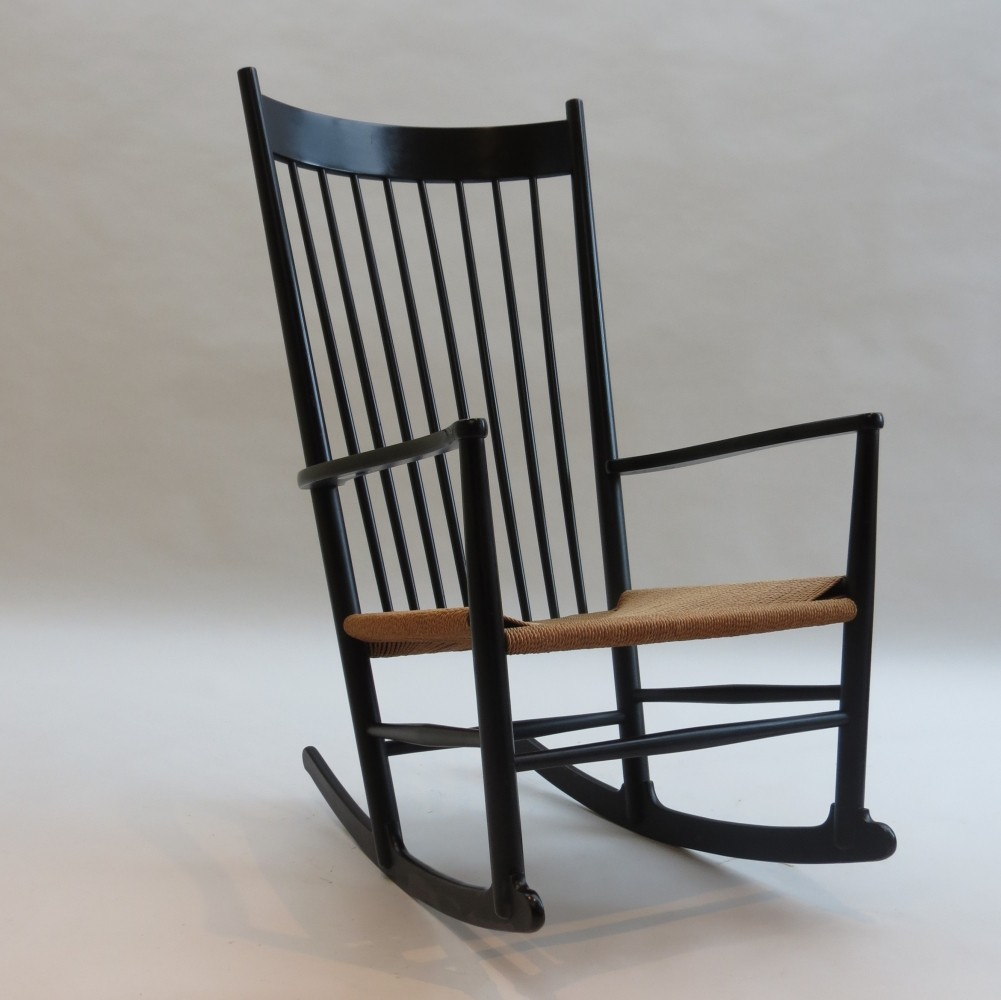 j16 rocking chair by hans wegner for fdb mbler 1960s