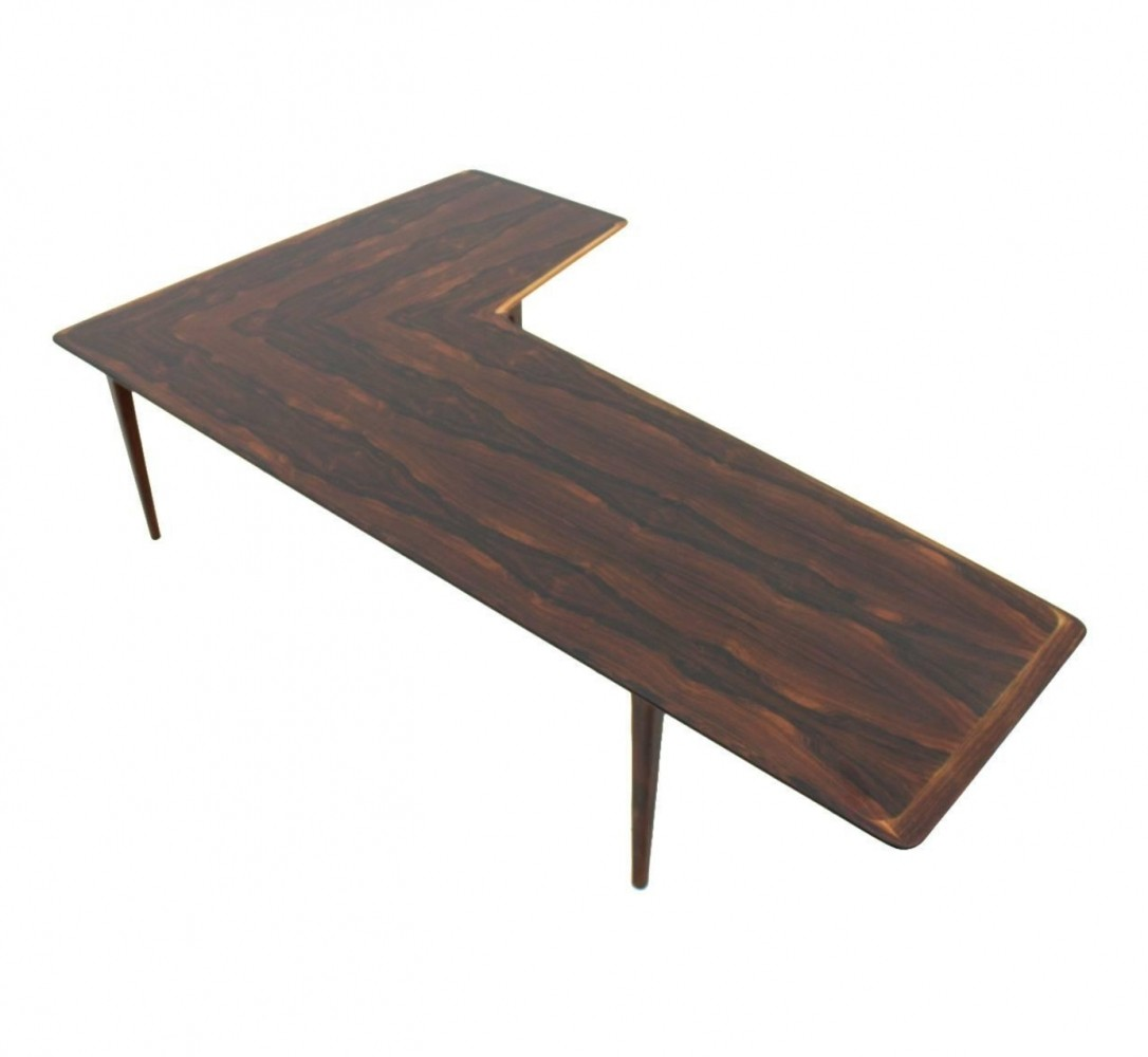 L Coffee Table Mid Century Walnut Quot L Quot Shaped Adjustable Coffee Table L Shape Wood