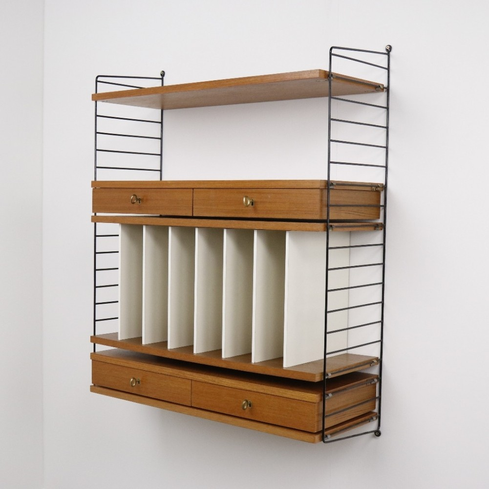 Design Wall Ladder Shelf the ladder shelf wall unit by nisse strinning for string design ab 1950s