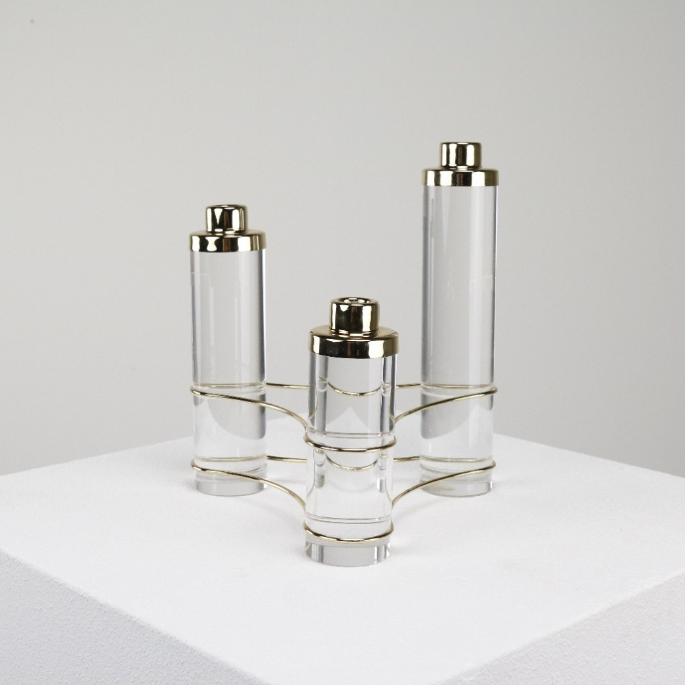 Brass & Lucite candle holder, 1970s