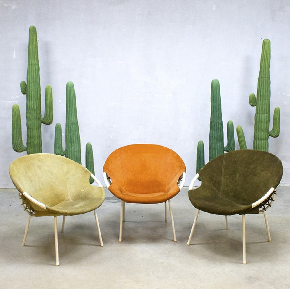 Balloon Lounge Chair By Lusch Germany, 1960s