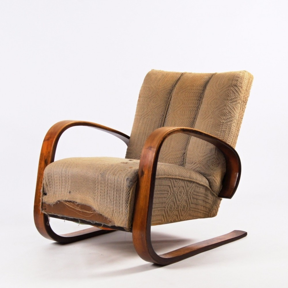 Lounge chair by Miroslav Navrátil for Spojene UP Zavody, 1950s