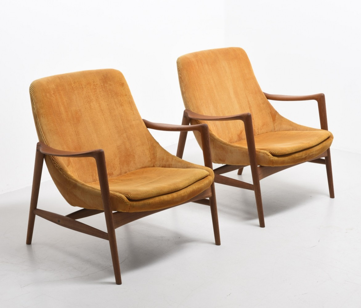 Set of 2 lounge chairs from the fifties by Rolf Rastad & Adolf Relling for Dokka Möbler