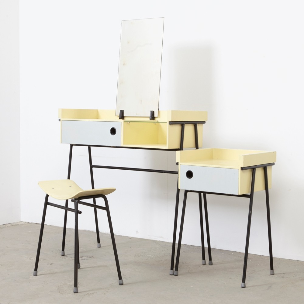 Dressing table, stool & night cabinet by Rob Parry for Dico, 1950s