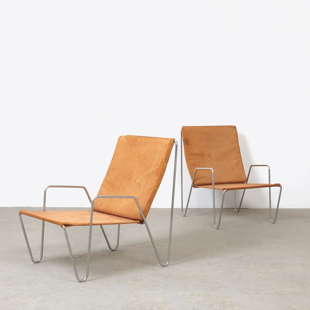 Set of 2 Bachelor lounge chairs from the fifties by Verner Panton for Fritz Hansen