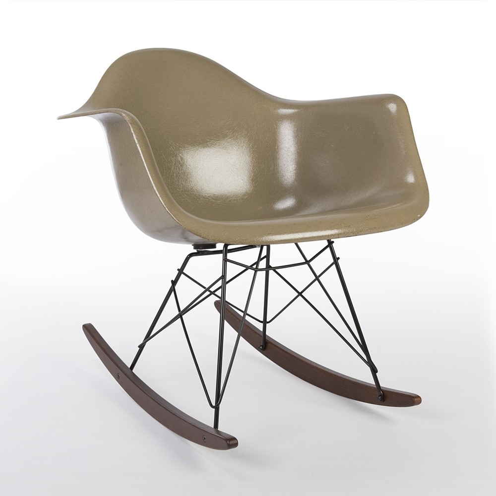 Original herman miller raw umber eames rar arm shell chair 64583 - Eames chair herman miller ...
