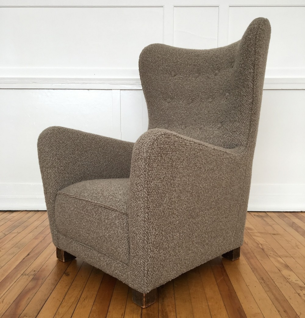seating arm chairs mid century 1940u0027s danish armchair wing back chair model by fritz hansen in bute wool