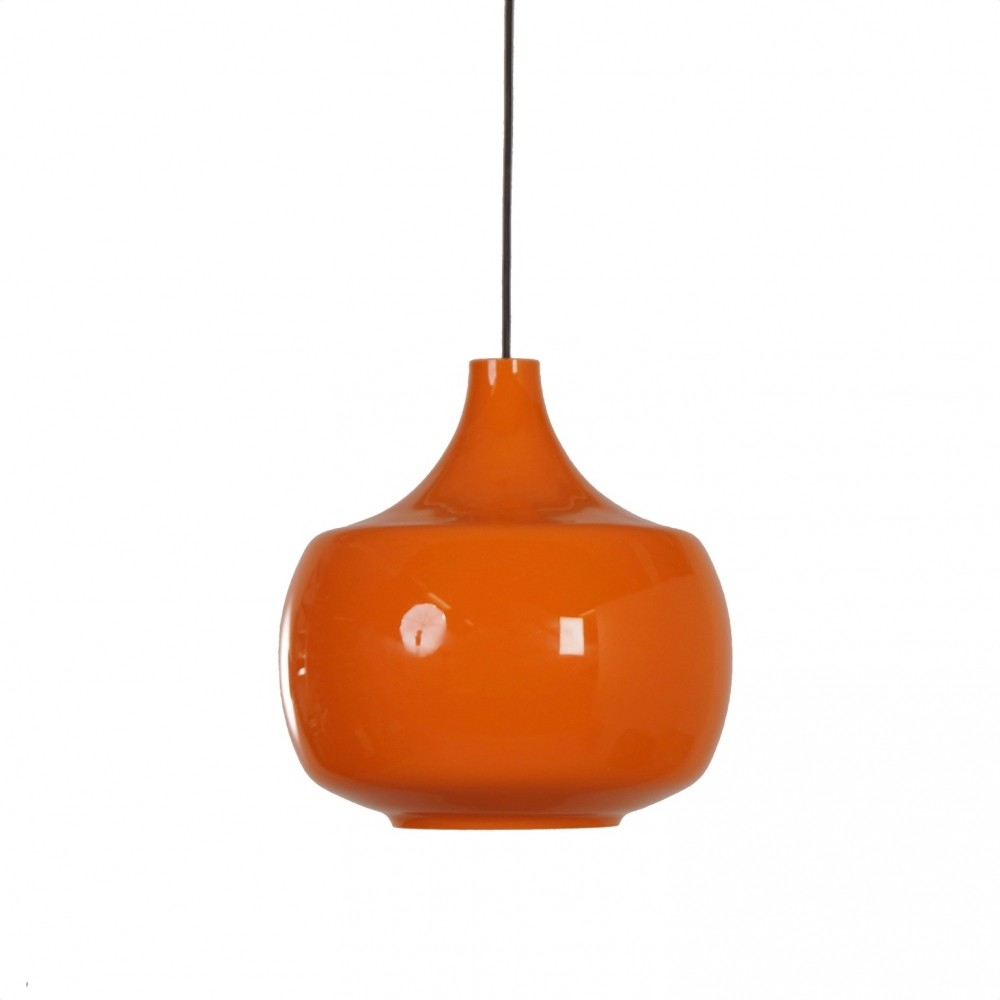 Orange hanging lamp - Orange Murano Pendant Lamp By Paolo Venini For Venini C 1960s Italy