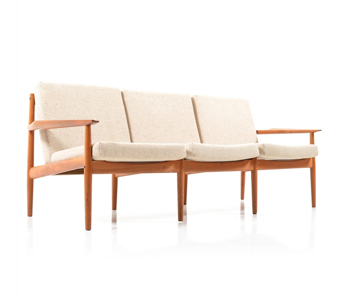 arne vodder sofa mid century danish teak sofa by arne vodder for glostrup thesofa. Black Bedroom Furniture Sets. Home Design Ideas