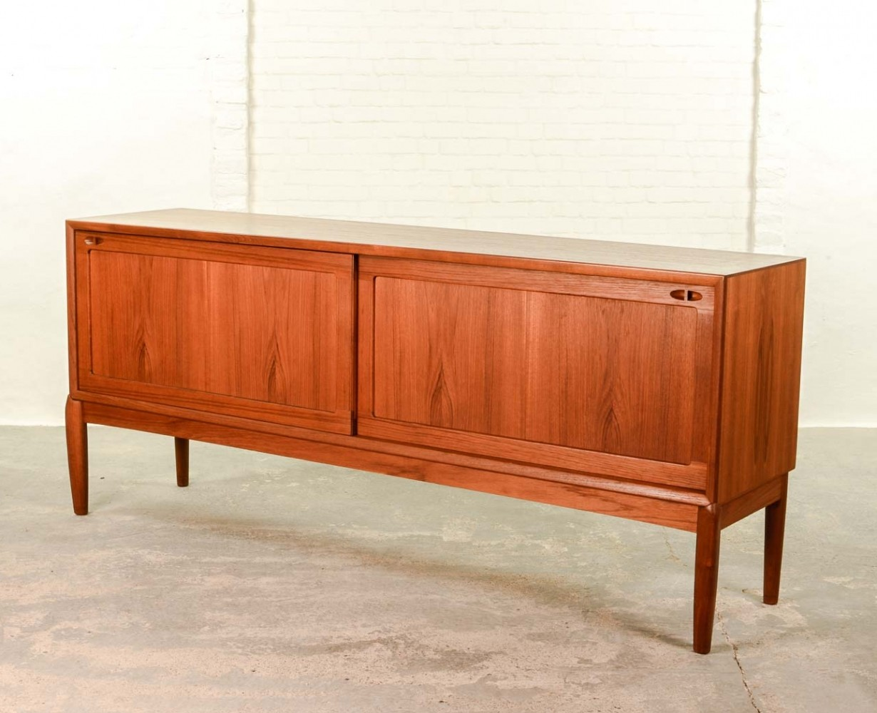 mid century danish low sideboard credenza by h w klein. Black Bedroom Furniture Sets. Home Design Ideas