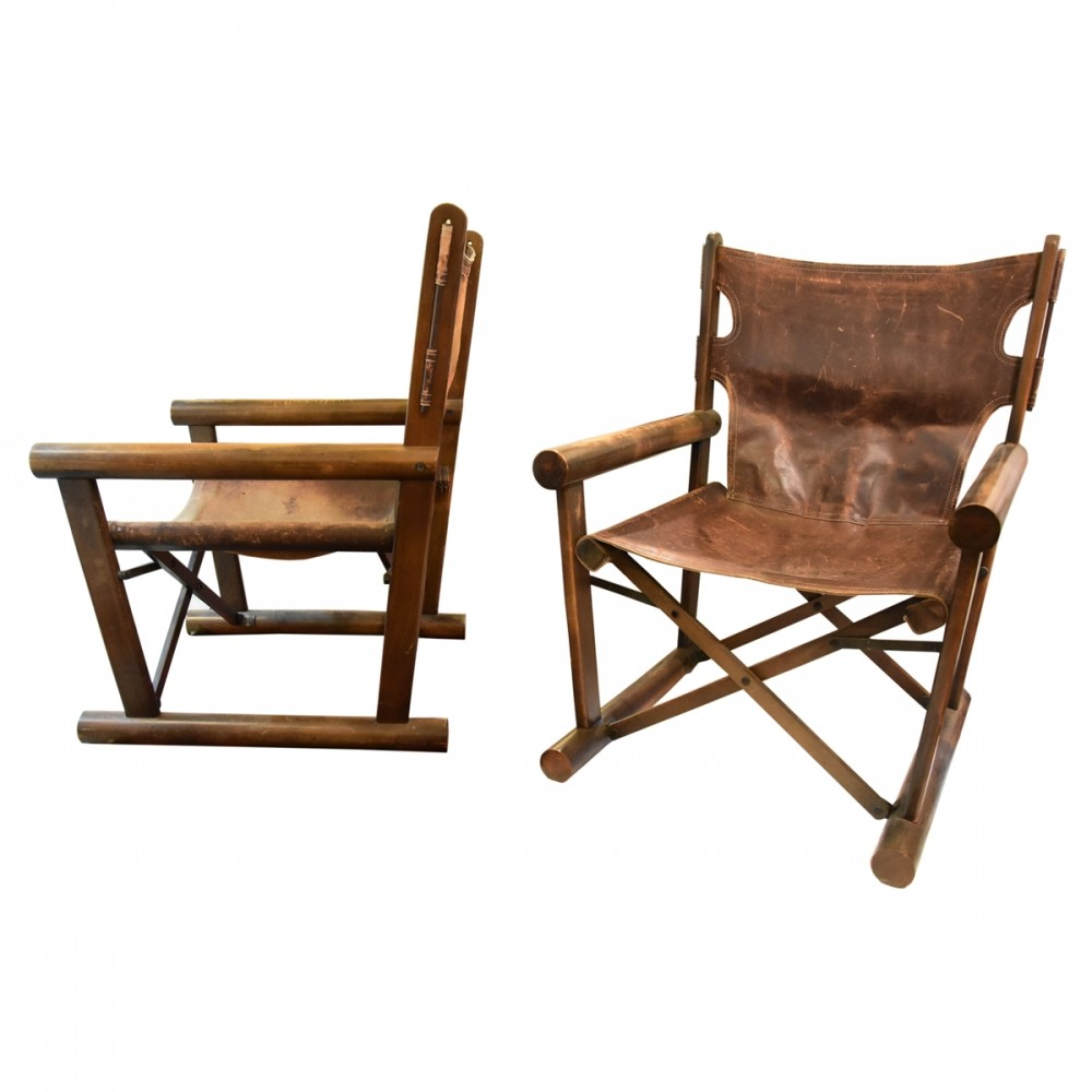 A Pair Of Folding Directors Chairs By Sergio Rodrigues, 1960s