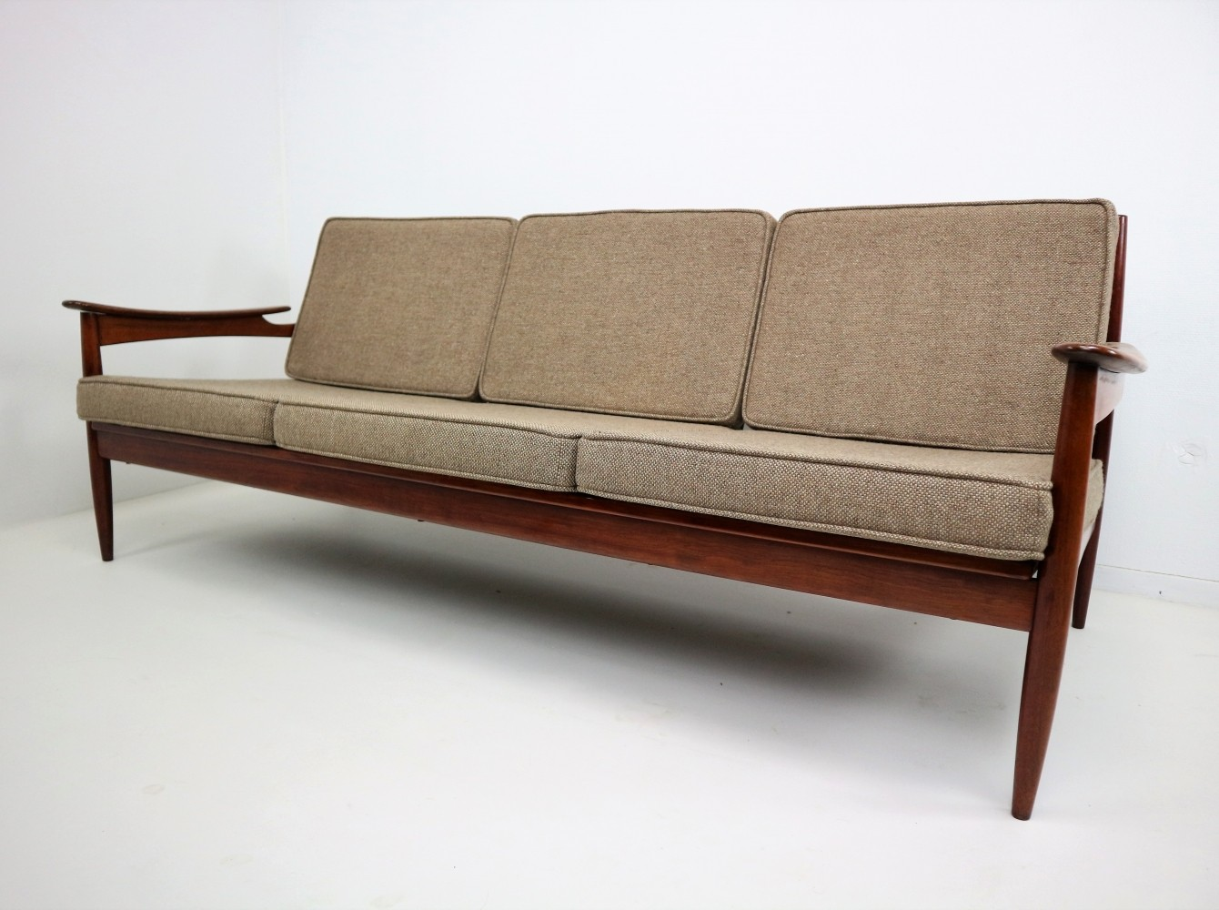 Danish Rosewood Mid Century Sofa By Unknown Designer For