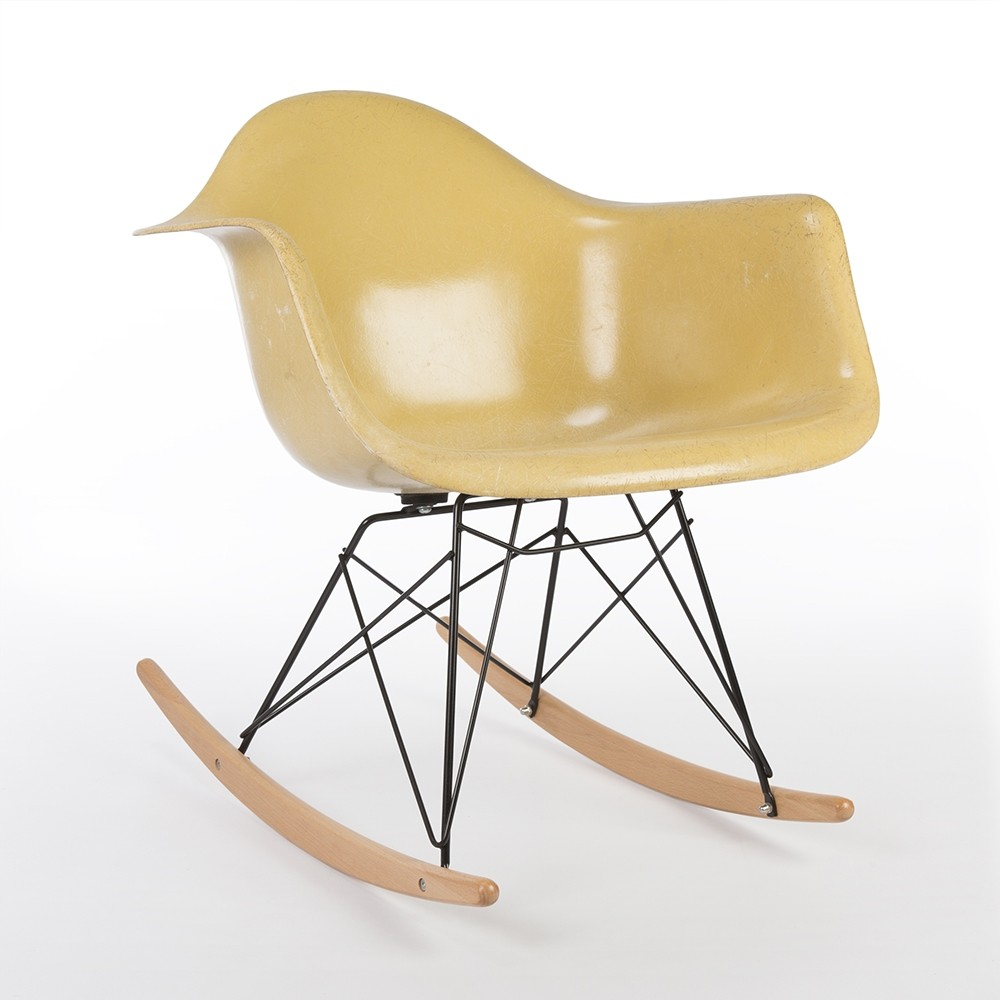 Original herman miller ochre eames rar rocking arm chair 65396 - Herman miller chair eames ...