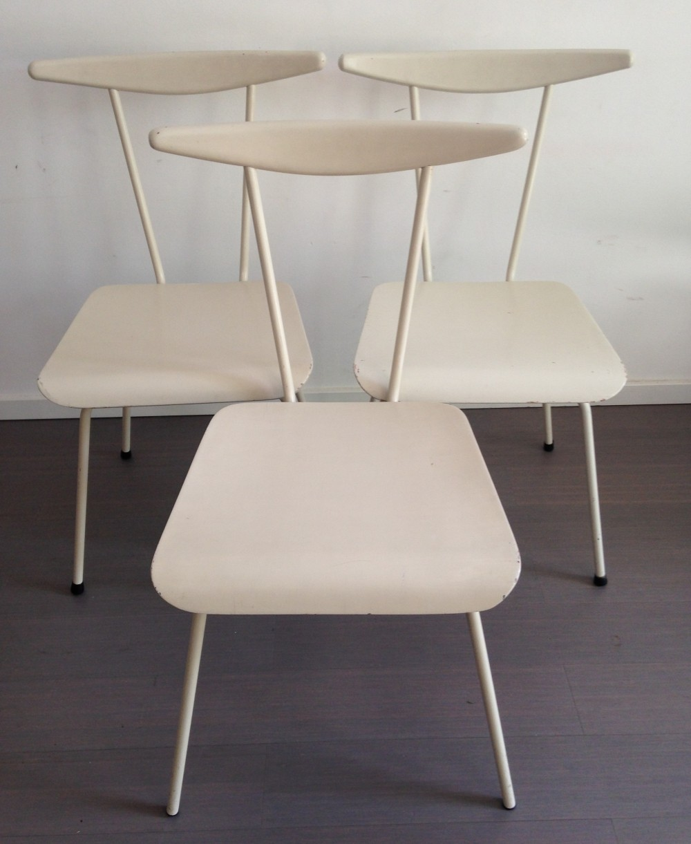 Set of 3 Dress boy dinner chairs by Wim Rietveld for Auping, 1950s