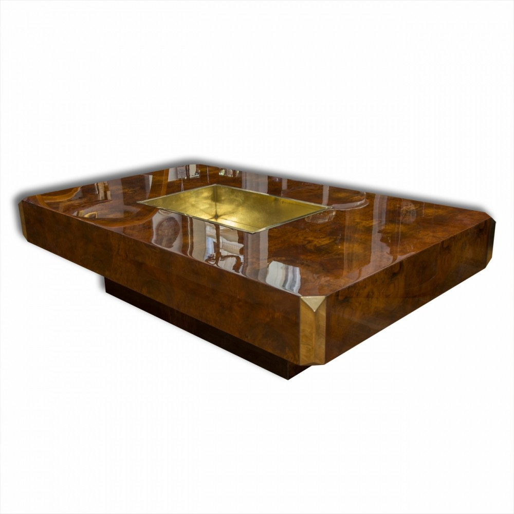 Willy rizzo coffee table 1970s 65669 for Table willy rizzo