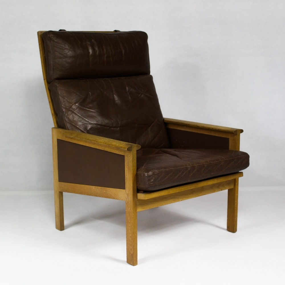 High back lounge chairs - Capella High Back Lounge Chair By Illum Wikkels For Eilersen 1960s