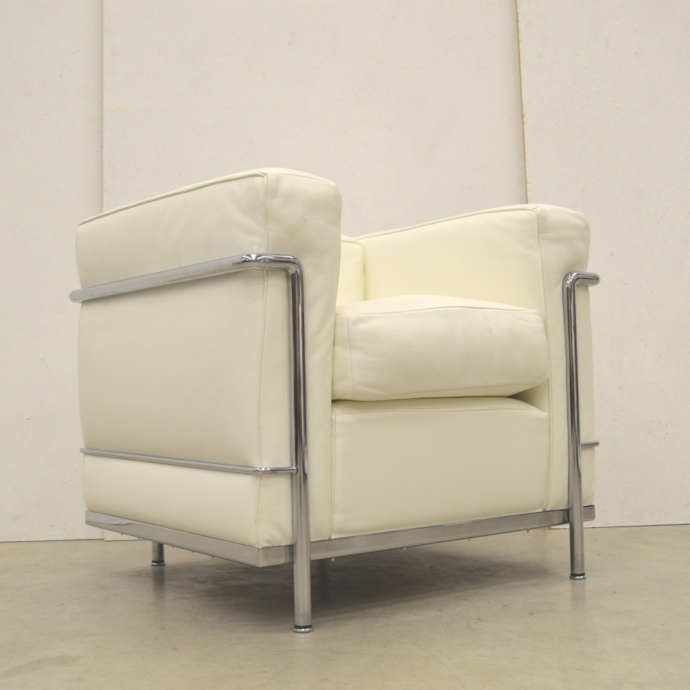 Lc2 Arm Chair By Le Corbusier For Cassina 1990s 65885