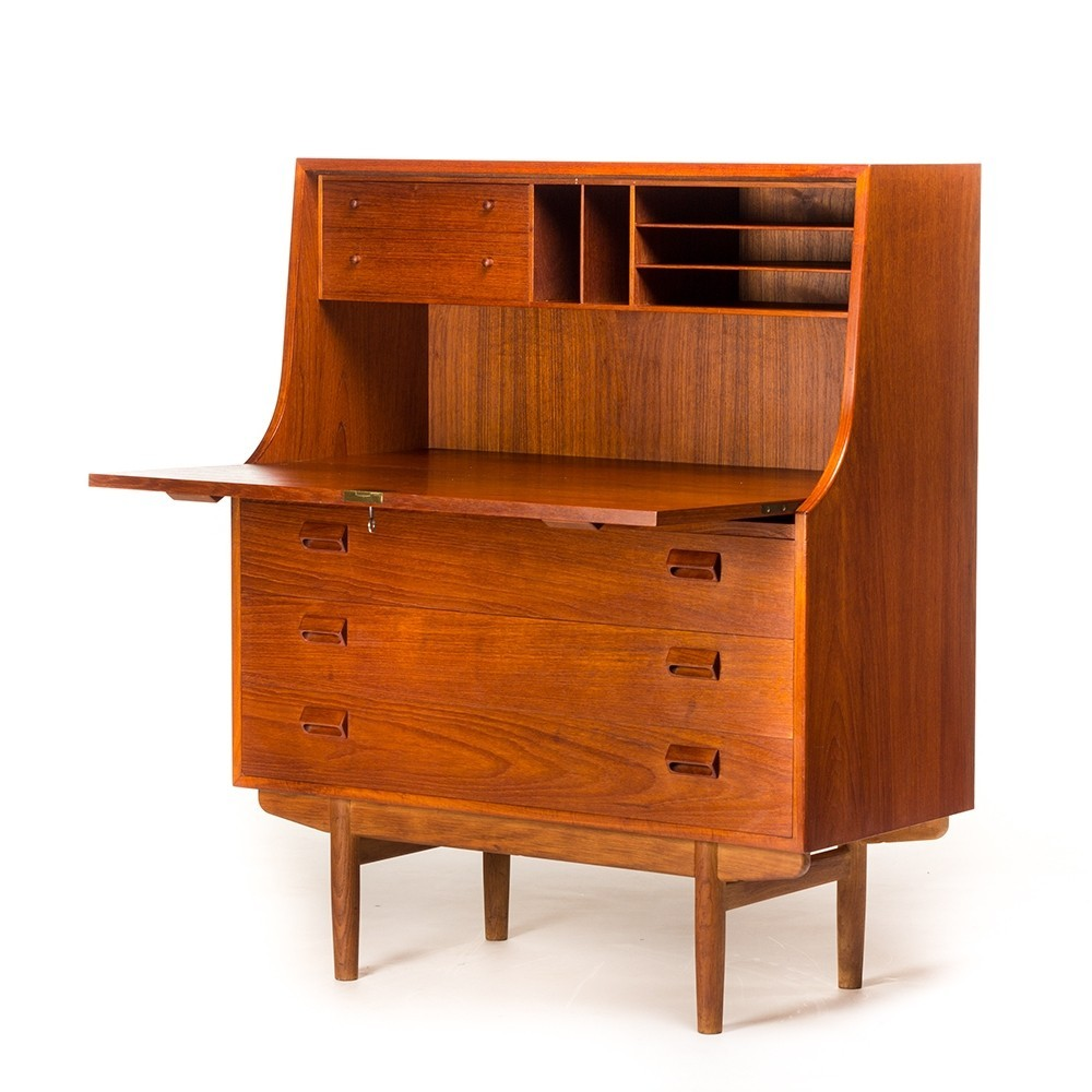Wonderful Secretary Cabinet By Børge Mogensen For Soborg Mobler, 1950s