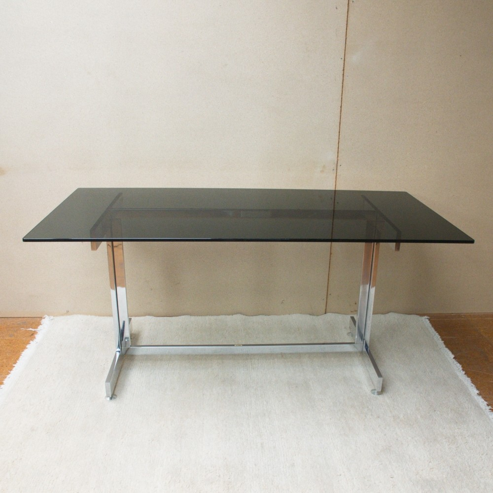 italian glass writing desk s   - italian glass writing desk s