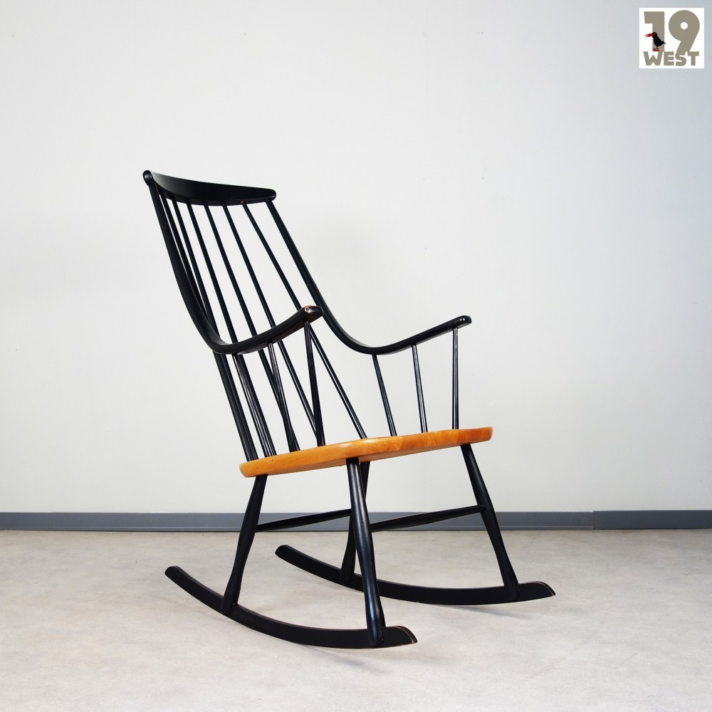 Grandessa rocking chair by Lena Larsson for Vamo Furniture 1950s