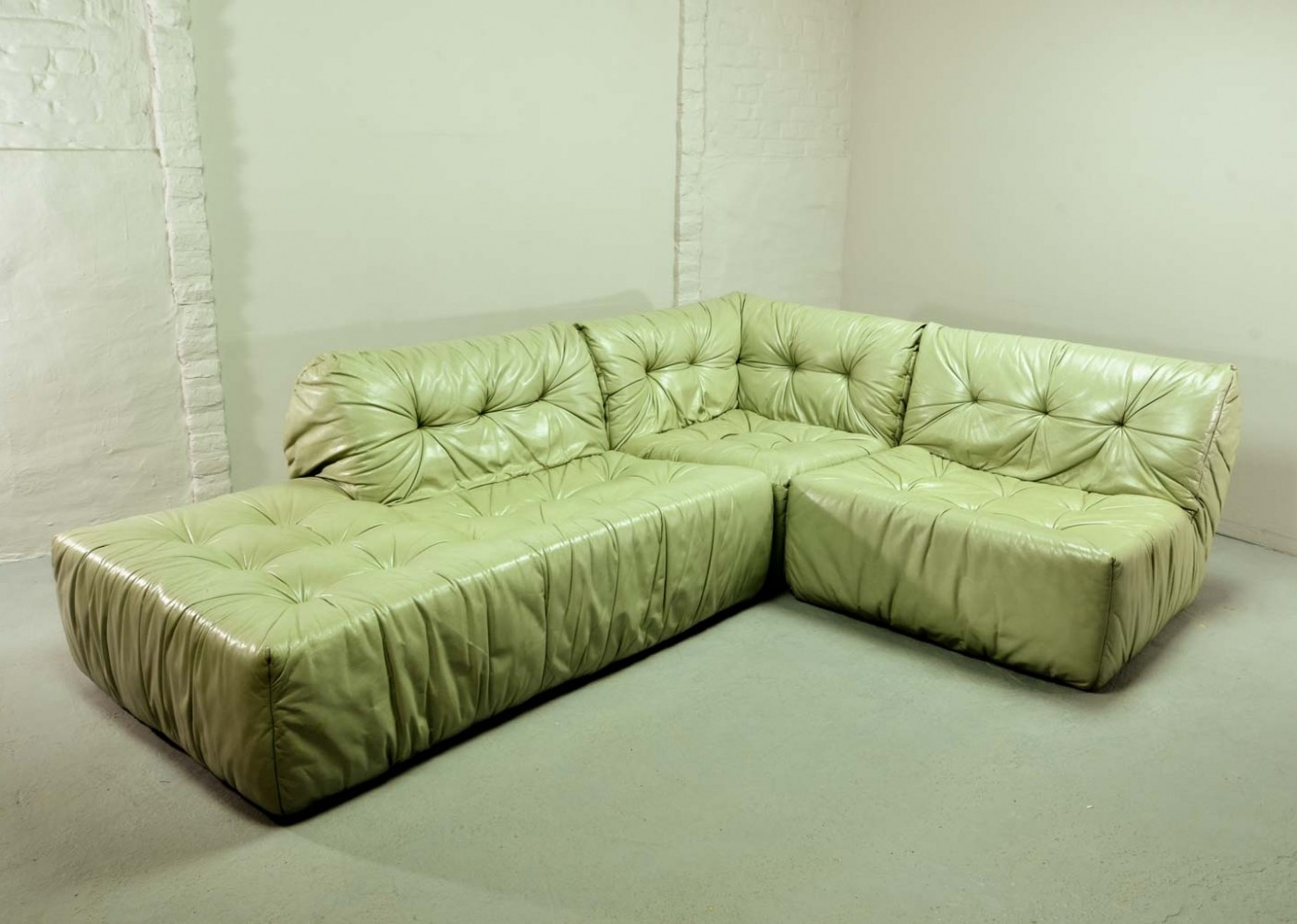 Mint Green Leather Sofa 78 Off Italian Mint Green Leather