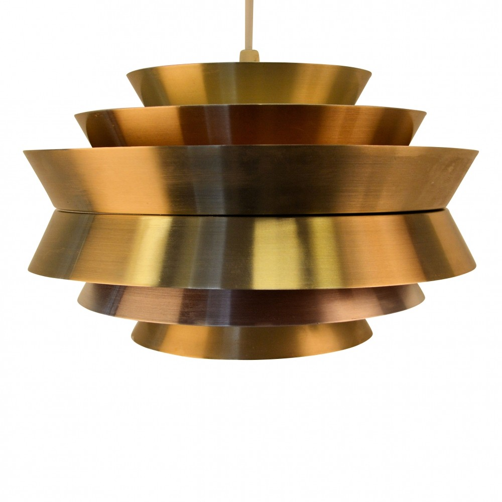 Carl Thore aluminium hanging lamp, 1960s
