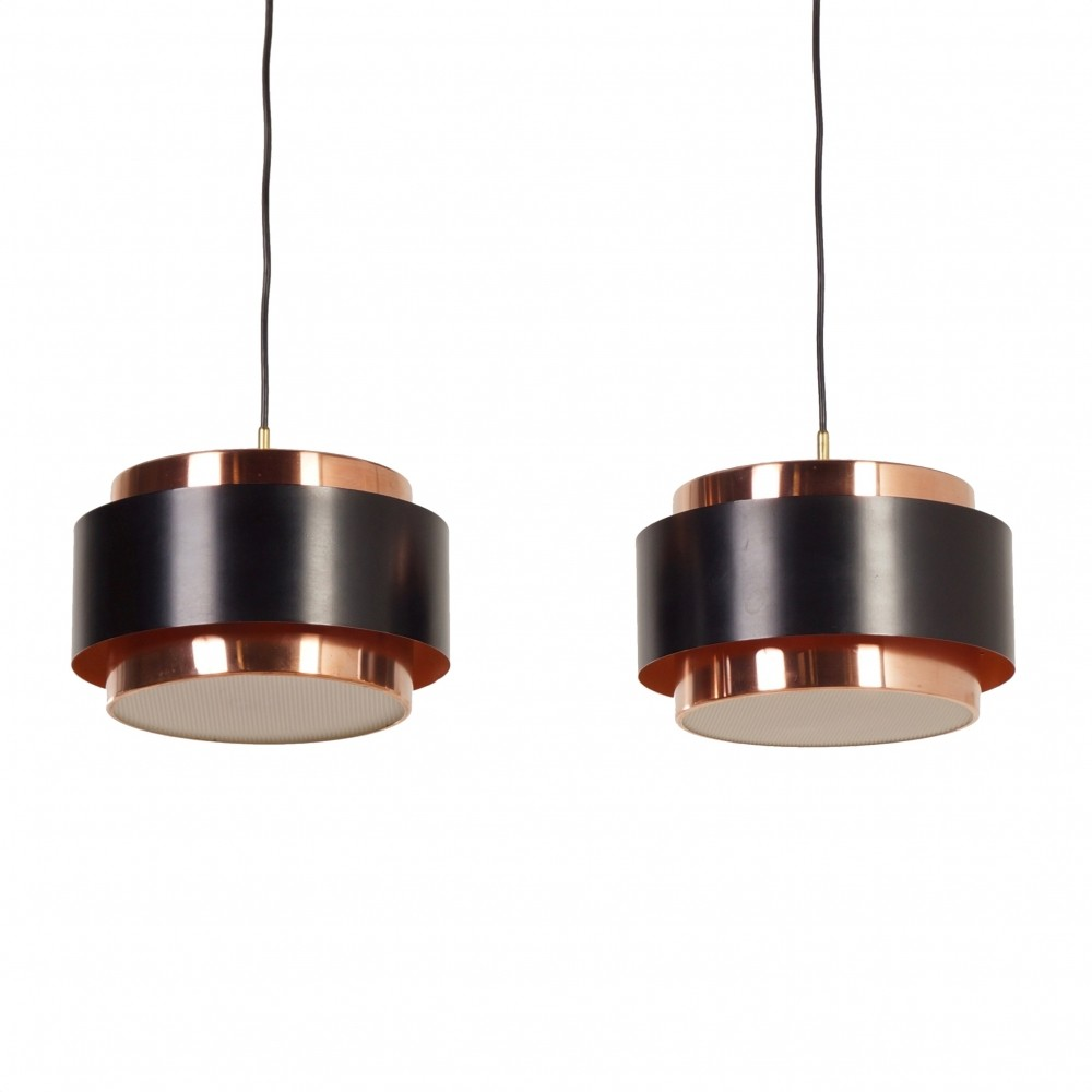 Pair of Saturn Pendant Lamps by Jo Hammerborg for Fog & Morup, 1966
